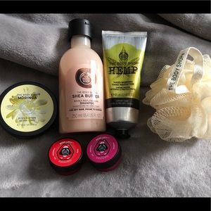 The Body Shop Bundle cream, shampoo, lip balm